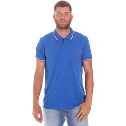 textil Herre Polo-t-shirts m. korte ærmer Lumberjack CM45940 016EU Blå