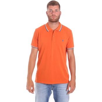 textil Herre Polo-t-shirts m. korte ærmer Lumberjack CM45940 016EU Orange