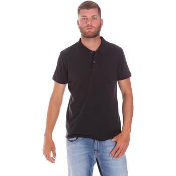 textil Herre Polo-t-shirts m. korte ærmer Lumberjack CM45940 017EU Sort
