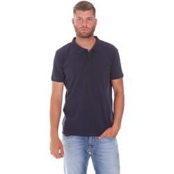 textil Herre Polo-t-shirts m. korte ærmer Lumberjack CM45940 017EU Blå