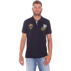 textil Herre Polo-t-shirts m. korte ærmer Lumberjack CM45940 019EU Blå
