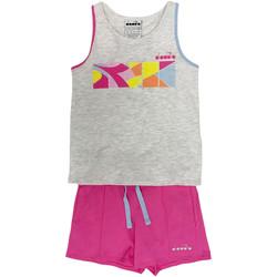 textil Børn Træningsdragter Diadora 102175900 Grå