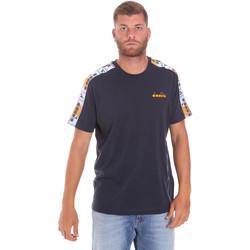 textil Herre T-shirts m. korte ærmer Diadora 502176085 Blå