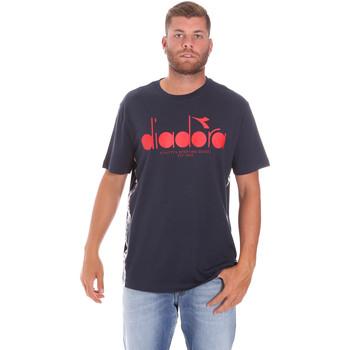 textil Herre T-shirts m. korte ærmer Diadora 502176630 Blå