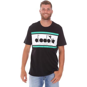 textil Herre T-shirts m. korte ærmer Diadora 502176632 Sort