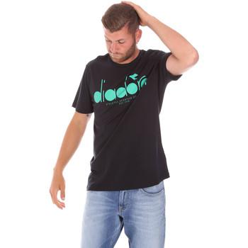 textil Herre T-shirts m. korte ærmer Diadora 502176633 Sort