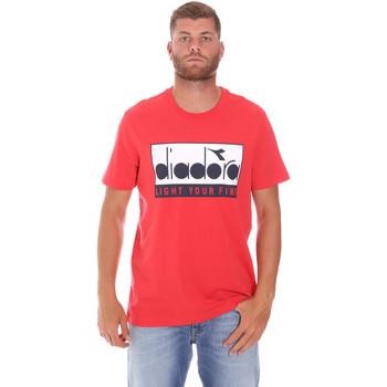 textil Herre T-shirts m. korte ærmer Diadora 502175835 Rød
