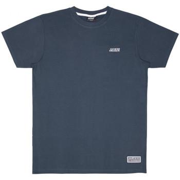 textil Herre T-shirts m. korte ærmer Jacker Classic logo Blå