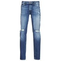 textil Herre Smalle jeans Jack & Jones JJITIM JJORIGINAL Blå / Medium
