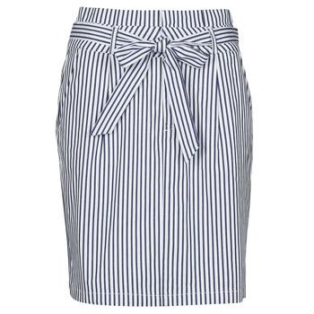 textil Dame Nederdele Vero Moda VMEVA Blå / Hvid
