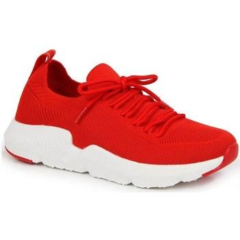Sko Dame Lave sneakers American Club INT1099C Rød