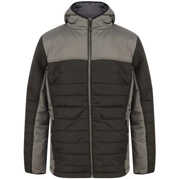 textil Herre Dynejakker Finden & Hales LV660 Black/Gunmetal Grey