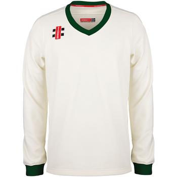 textil Sweatshirts Gray-Nicolls GN029 Ivory/Green