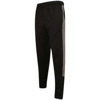 textil Herre Træningsbukser Finden & Hales LV881 Black/Gunmetal Grey