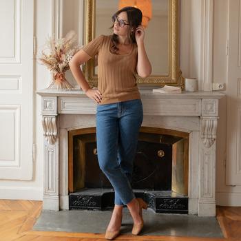textil Dame Toppe / Bluser Céleste ERABLE Kamel