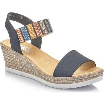 Sko Dame Sandaler Rieker Pazifik Multiprint Blue Sandal Blå