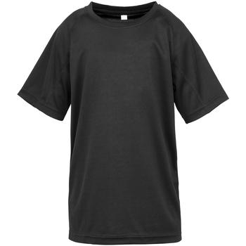 textil Dreng T-shirts m. korte ærmer Spiro S287J Black