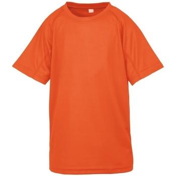 textil Dreng T-shirts m. korte ærmer Spiro S287J Flo Orange