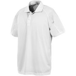 textil Herre Polo-t-shirts m. korte ærmer Spiro S288X White