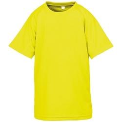 textil Børn T-shirts m. korte ærmer Spiro SR287B Flo Yellow