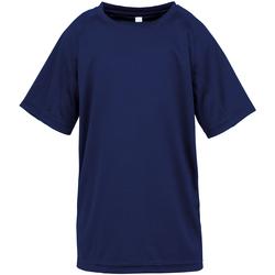 textil Børn T-shirts m. korte ærmer Spiro SR287B Navy