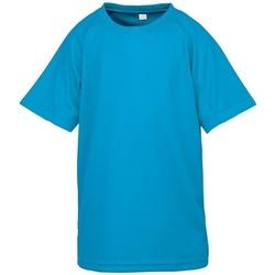 textil Børn T-shirts m. korte ærmer Spiro SR287B Ocean Blue