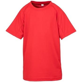 textil Børn T-shirts m. korte ærmer Spiro SR287B Red
