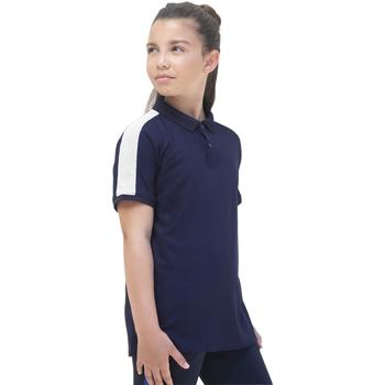 textil Pige Polo-t-shirts m. korte ærmer Finden & Hales LV382 Navy/White