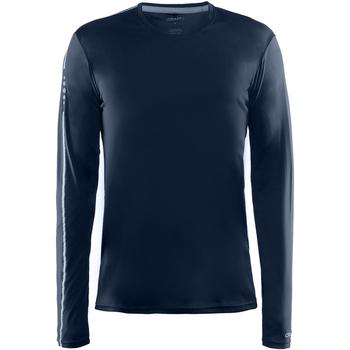textil Herre Langærmede T-shirts Craft CT089 Navy