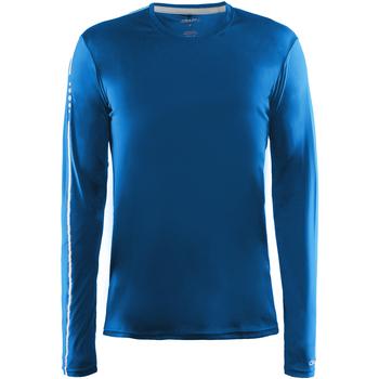 textil Herre Langærmede T-shirts Craft CT089 Swedish Blue