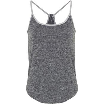 textil Dame Toppe / T-shirts uden ærmer Tridri TR043 Black Melange/Silver Melange