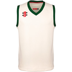textil Børn Toppe / T-shirts uden ærmer Gray-Nicolls GN28J Ivory/Green