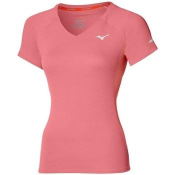 textil Dame T-shirts m. korte ærmer Mizuno Drylite Tee W Pink