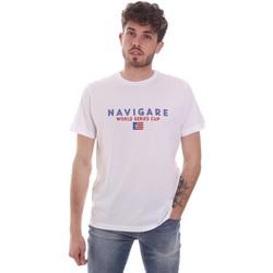 textil Herre T-shirts m. korte ærmer Navigare NV31139 hvid