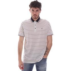 textil Herre Polo-t-shirts m. korte ærmer Navigare NV70034 hvid