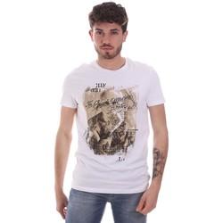textil Herre T-shirts m. korte ærmer Gaudi 111GU64091 hvid