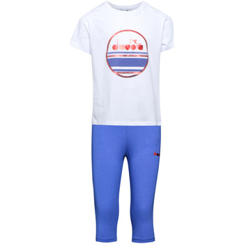 textil Børn Træningsdragter Diadora 102175918 hvid