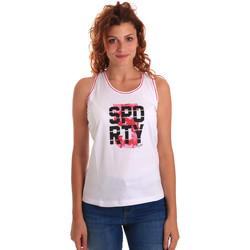 textil Dame Toppe / T-shirts uden ærmer Key Up 5G60S 0001 hvid