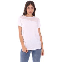 textil Dame T-shirts m. korte ærmer Ea7 Emporio Armani 3KTT34 TJ4PZ hvid