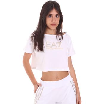 textil Dame T-shirts m. korte ærmer Ea7 Emporio Armani 3KTT03 TJ28Z hvid