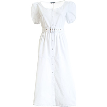 textil Dame Lange kjoler Fracomina F321SD3005W40301 hvid