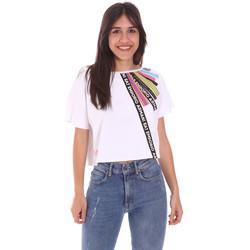 textil Dame T-shirts m. korte ærmer Ea7 Emporio Armani 3KTT40 TJ39Z hvid