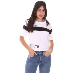 textil Dame T-shirts m. korte ærmer Ea7 Emporio Armani 3KTT05 TJ9ZZ hvid