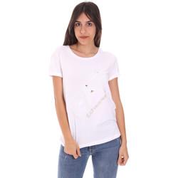 textil Dame T-shirts m. korte ærmer Ea7 Emporio Armani 3KTT28 TJ12Z hvid