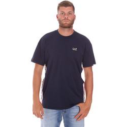 textil Herre T-shirts m. korte ærmer Ea7 Emporio Armani 3KPT13 PJ02Z Blå