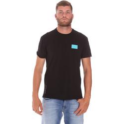 textil Herre T-shirts m. korte ærmer Ea7 Emporio Armani 3KPT50 PJAMZ Sort