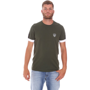 textil Herre T-shirts m. korte ærmer Ea7 Emporio Armani 3KPT56 PJ4MZ Grøn