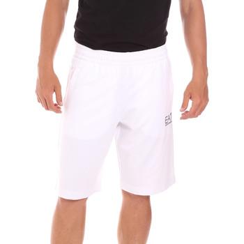 textil Herre Badebukser / Badeshorts Ea7 Emporio Armani 3KPS59 PJ05Z hvid