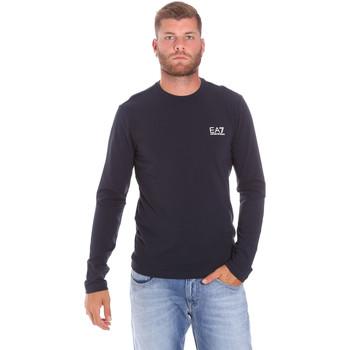 textil Herre Langærmede T-shirts Ea7 Emporio Armani 8NPT55 PJM5Z Blå