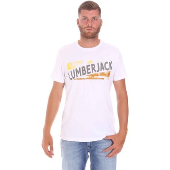 textil Herre T-shirts m. korte ærmer Lumberjack CM60343 026EU hvid